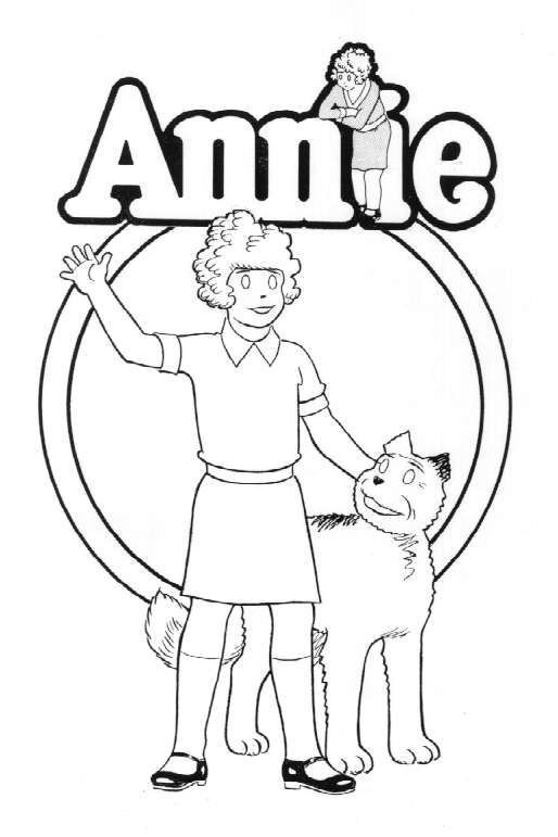 Annie Colouring In