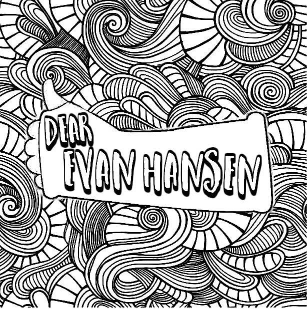 Dear Evan Hansen Colouring In