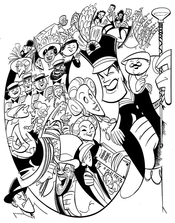 Music Man Colouring In
